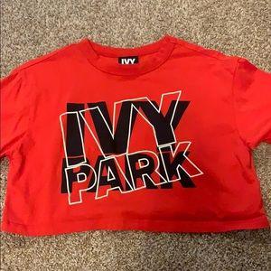 ivy park red crop top